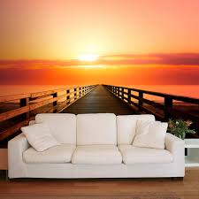 Schlafzimmer Fototapete Vlies Fototapete Sonnenuntergang Meer Rot Tapete Tapeten