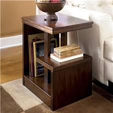 Chair Side End Table Signature Design By Ashley Carlyle Chair Side End Table With 2 Cup