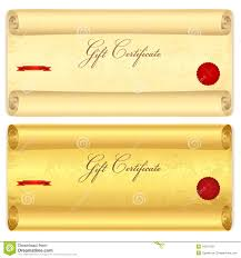 gift certificate voucher template old scroll pa stock
