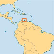 Venezuela World Map by Aruba Operation World