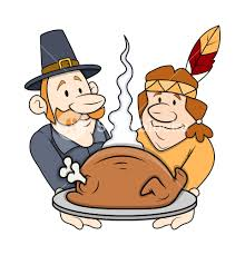 thanksgiving day characters royalty free stock image