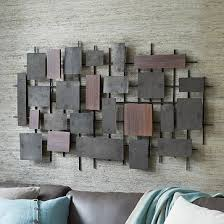 hammered metal wood wall westelm i need this my bed