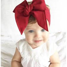 retro headbands fashion diy kid child baby wrap top knot solid big bow