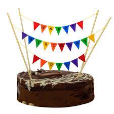 Dessert Flags Cake Topper Bunting U0027happy Birthday Dad U0027 Small Multi Coloured