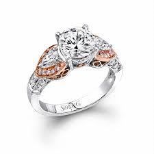 antique gold engagement rings 58ct simon g diamond antique style 18k two tone gold engagement