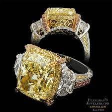 fancy yellow diamond engagement rings michael beaudry jewelry platinum fancy yellow diamond ring beaudry