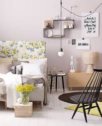 killer picture of chic bedroom decoration using round black wood