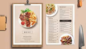 food menu template indian restaurant menu template design