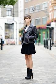 blue motorbike jacket biker jacket street style whistles