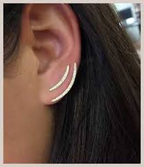 earrings that go up the ear ear climbers the stylish earrings that go up the ear