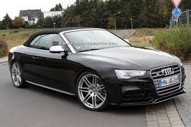black audi convertible audi rs5 convertible spotted testing