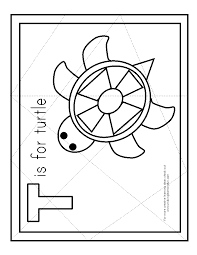 t is for turtle puzzle free preschool printable for an easy