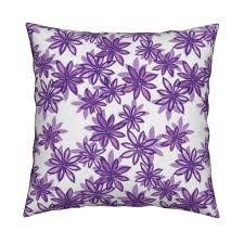 random flower pattern in layers purple shades fabric