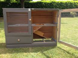 rabbit hutch from old dresser for the homestead pinterest