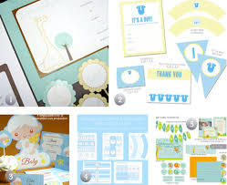 baby shower kits 5 free printable baby shower party kits in blue the frugal