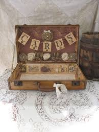 14 best shabby chic wedding card vintage suitcase images on