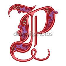 imagenes en ingles con la letra p alfabetos inglês decoração linda estilo gótico letra p vector