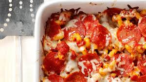 pizza pasta casserole recipe taste of home
