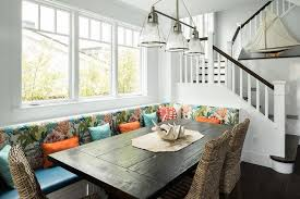 Window Seat In Dining Room - cottage dining room features a built in banquette doubling as a