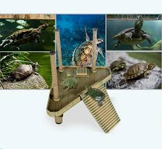 new s m l aquarium fish tank ornament reptile frog turtle pier
