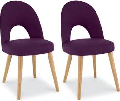 Oak Dining Chairs Buy Bentley Designs Oslo Oak Dining Chair Plum Fabric