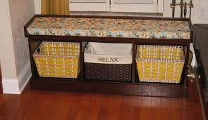 White Wood Storage Bench Bench Suitable Storage Bench With Wicker Baskets Light Wood