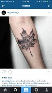 maple leaf tattoo meaning 35 best camping mountains tattoo images on pinterest mountain