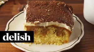tiramisu poke cake delish youtube