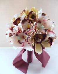 orchid bouquet blush pink cymbidium orchid bouquet bridal bouquet wedding