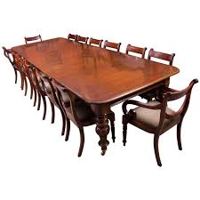 Mahogany Dining Room Furniture 19th Century Mahogany Dining Table And 14 Chairs