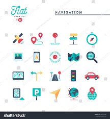Maps Traffic Navigation Direction Maps Traffic More Flat Stock Vektorgrafik