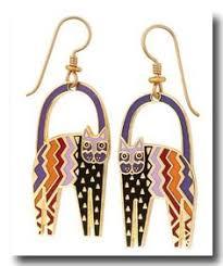 laurel burch earrings laurel burch vintage goldtone white purple enamel basso drop