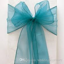 cheap sashes teal blue organza chair sashes bluish green table sle