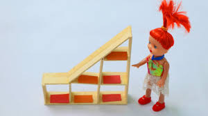 Diy Dollhouse Furniture How To Make Doll Bookcase Using Popsicle Stick Diy Doll
