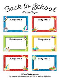 printable monster name tags free printable school name tags