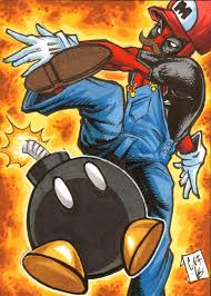 deadpool mario sketch card chris foreman marvel by chris foreman