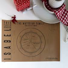 Kraft Paper Table Cloth Personalised Kraft Paper Christmas Place Mats By Betsy Benn