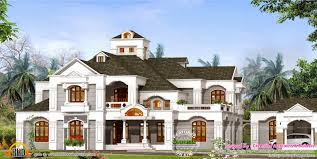 luxury sloped roof house kerala home design and floor plans