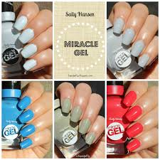 liquid jelly review swatch sally hansen miracle gel color u0026 top