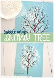 wrap snowy tree kid craft w free printable glued to my crafts