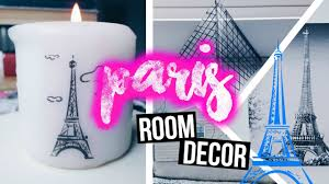diy city inspired room decor paris youtube