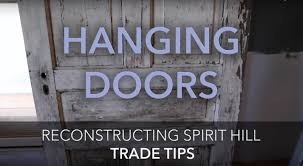 how to build a door frame to hang or install old or antique doors