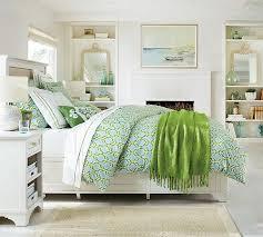 Green And White Duvet Shay Organic Duvet Cover U0026 Sham Blue Green Pottery Barn