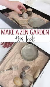 make a zen garden for kids family dinner book club craft sunny