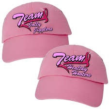 baseball ribbon cancer team hat custom team hat ribbon pink baseball hat breast