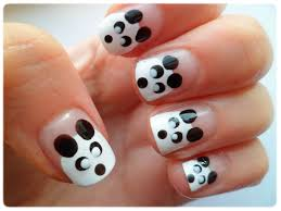 cute panda nail art choice image nail art designs