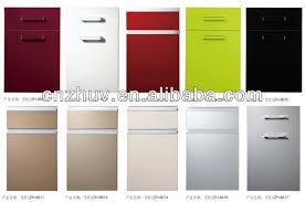 High Gloss Acrylic And Pvc Kitchen Cabinet Door Cupboard Covering - High gloss kitchen cabinet doors