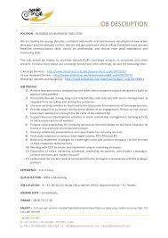Resume Job Location by Job Description For Business Development Executive