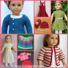 8 adorable knitted and patterns for 18 u2033 dolls doll diaries