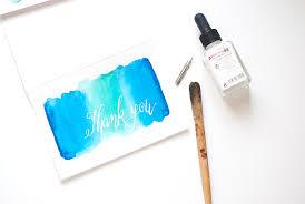 handmade watercolor cards diy watercolor thank you cards design sponge